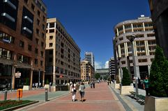 North Ave, commercial street in Yerevan. North Avenue, a commercial street in Yerevan. Full of fashion boutiques and restaurants. Image useful for articles Royalty Free Stock Image
