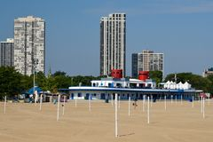 North Avenue Beach Bath House Royalty Free Stock Photography
