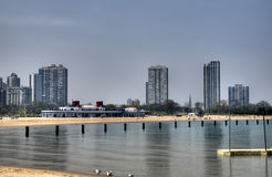 North Avenue Beach in Chicago Stock Image