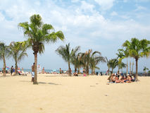 North Avenue beach in summer dress Stock Image