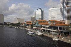 North bank Jacksonville Florida plaza Royalty Free Stock Images