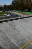 The north banking of monza and the first chicane Royalty Free Stock Image