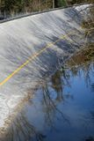 The north banking of monza after heavy rains Stock Photo