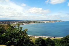 North Bay Scarborough. From Castle Royalty Free Stock Photos