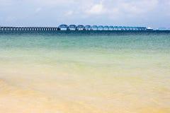 North bay of weizhou island. Long bridge in the north bay of weizhou island Stock Image