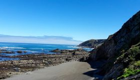 North beach in Asturias royalty free stock photo