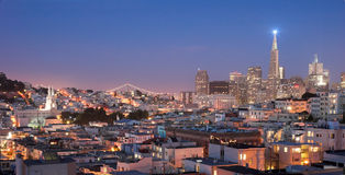 North beach district in San Francisco royalty free stock photography