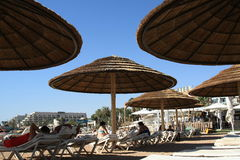 North beach of Eilat Royalty Free Stock Photography
