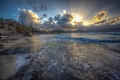 Amazing Sunset Oahu Hawaii Stock Photography