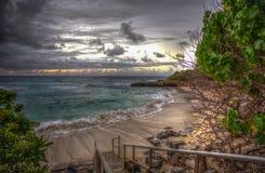 Stairway to Heavenly Beach  on Oahu Hawaii Royalty Free Stock Photos