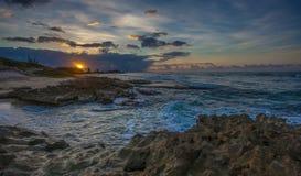 Windward Sunset Oahu Hawaii Royalty Free Stock Images