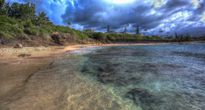 Tropical Paradise Beach on Oahu Hawaii Stock Photography