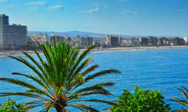 North Beach in Peniscola, Spain Stock Image