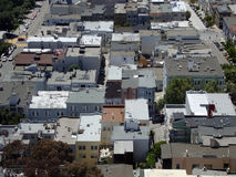North Beach San Francisco Roof Tops Royalty Free Stock Photos