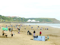 North Beach, Scarborough, Yorkshire. Stock Images