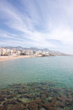 North beach of Sitges (Barcelona, Spain) Royalty Free Stock Photography
