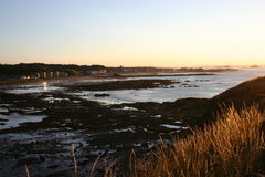 North Berwick at sunset. Picturesque town of North Berwick in East Lothian, Scotland at sunset Royalty Free Stock Photos