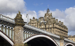 North Bridge in Edinburgh, Scotland Royalty Free Stock Image