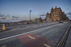 North Bridge in Edinburgh after twilight Stock Photos