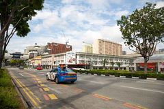 North Bridge road in Singapore Royalty Free Stock Photo