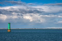 North Bull lighthouse in Dublin Bay. The North Bull Lighthouse at the entrance of Dublin harbour, Ireland Royalty Free Stock Image