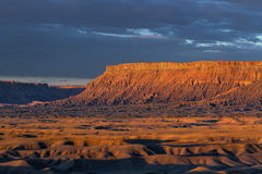 North Caineville Mesa at Sunrise Stock Image