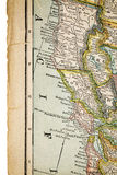 North California on vintage map Stock Photography