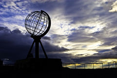 North Cape. Sign of the Northern point of Europe, North Cape Stock Images
