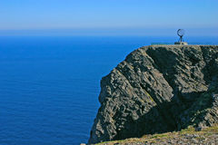 North Cape and Arctic Ocean. The Famous North Cape in Norway during the day (nordkapp Stock Photo