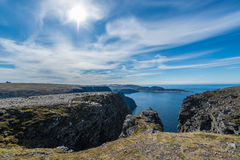 North Cape in Finnmark, Northern Norway. Royalty Free Stock Photo