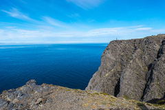 North Cape in Finnmark, Northern Norway. Stock Image