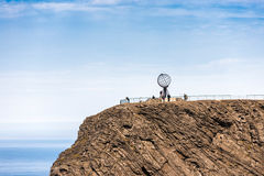 North Cape in Finnmark, Northern Norway. Royalty Free Stock Images