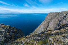 North Cape in Finnmark, Northern Norway. Stock Photo