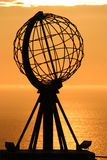 The North Cape Globe at midnight #3. The Famous North Cape in Norway ad midnight (nordkapp Royalty Free Stock Image