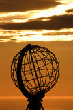 The North Cape Globe at midnight #4. The Famous North Cape in Norway ad midnight (nordkapp Stock Image