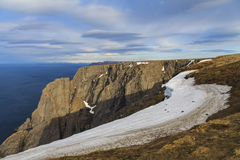 North cape, the most Northern point of Europe, in Norw Stock Image
