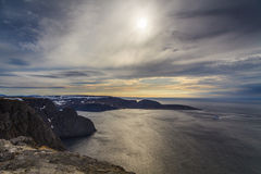 North cape,the most Northern point of Europe, in Norw Stock Image