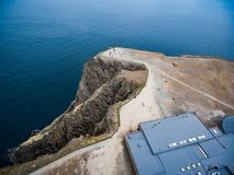 North Cape Nordkapp aerial photography,. Barents Sea coast North Cape Nordkapp in northern Norway aerial photography Stock Photos