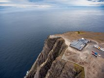North Cape Nordkapp aerial photography,. Barents Sea coast North Cape Nordkapp in northern Norway aerial photography Stock Photo