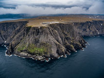 North Cape Nordkapp aerial photography,. Barents Sea coast North Cape Nordkapp in northern Norway aerial photography Royalty Free Stock Photography