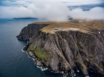 North Cape Nordkapp aerial photography,. Barents Sea coast North Cape Nordkapp in northern Norway aerial photography Stock Photography