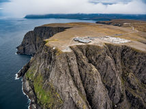 North Cape Nordkapp aerial photography,. Barents Sea coast North Cape Nordkapp in northern Norway aerial photography Stock Images