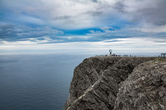 North Cape (Nordkapp). Barents Sea coast North Cape (Nordkapp) in northern Norway Stock Image
