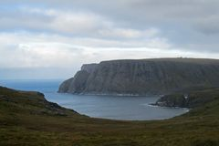 North Cape, Nordkapp, on the northern coast of the island of Mageroya in Finnmark, view from Knivskjellodden, Northern. Norway, Europe royalty free stock photography