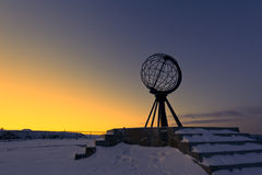 North Cape, at the northernmost point of Europe Stock Photos