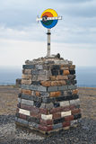 North Cape sign. Norway. North Cape sign in Norway Stock Photography