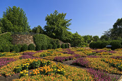 North Carolina Arboretum. The Quilt Garden at the North Carolina Arboretum in Asheville near the Blue Ridge Parkway stock photo