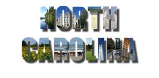 North Carolina baner på vit royaltyfri fotografi