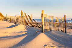 North Carolina Beach Erosion Fencing Royalty Free Stock Images