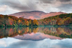 North Carolina Blue Ridge Mountain Autumn Reflections Royalty Free Stock Images